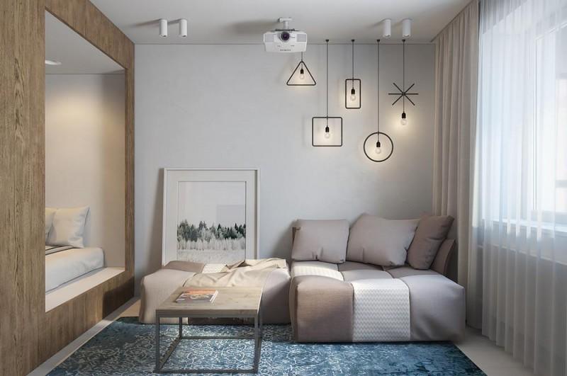 Thiết kế theo phong cách sacndinavia căn hộ nhỏ và hẹp tông màu trắng làm tăng thêm không gian