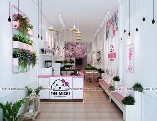 Thiết kế - Thi công Quán Trà sữa THE MICHI - Thanh oai - Hà Nội