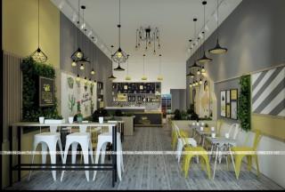 Thiết kế - Thi công quán Trà sữa - cafe RICHA Coffee & milk tea