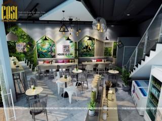 Thiết kế - Thi công Quán Trà sữa House Of Cha Hoàng Su Phì - Hà Giang