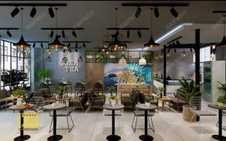 Thiết kế - Thi công Quán Trà sữa GGEM TEA - ĐAN PHƯỢNG