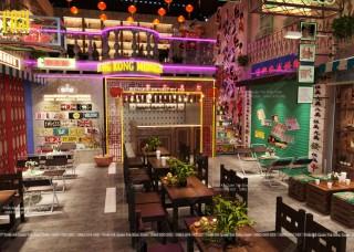 THIẾT KẾ - THI CÔNG STYLE PHỐ HONG KONG