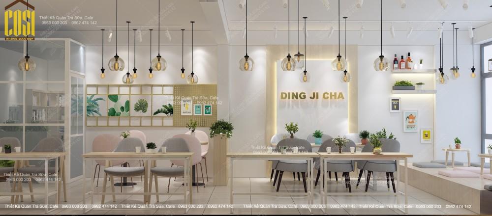 Thiết kế - Thi công Quán Trà sữa Ding Ji Cha