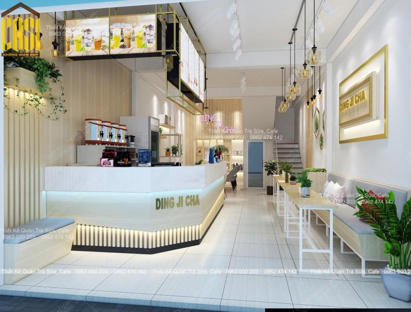 Thiết kế - Thi công Quán Trà sữa Ding Ji Cha - Hà Nội