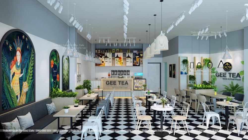 Thiết kế - Thi công Quán Trà Sữa GEE TEA PHÚ THỌ