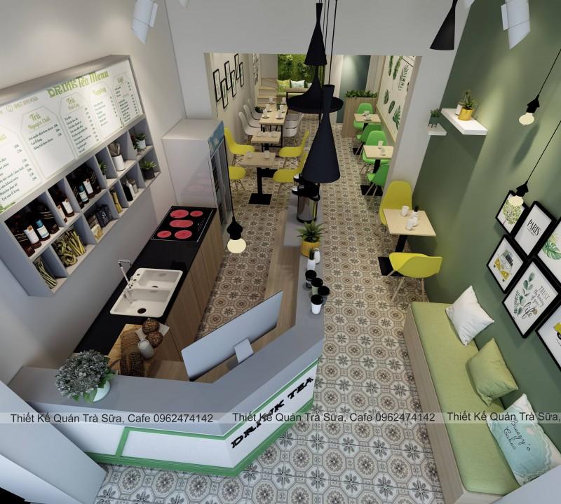 Thiết kế - thi công quán trà sữa DRINK TEA