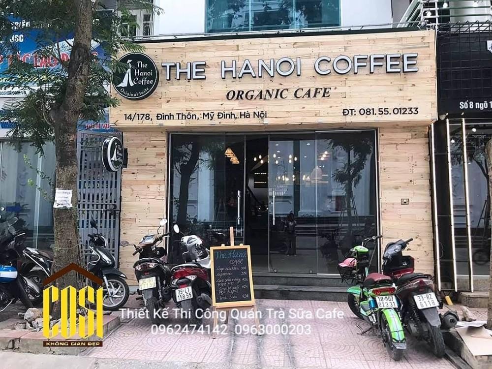 THIẾT KẾ - THI CÔNG QUÁN COFFEE : THE HANOI COFFEE