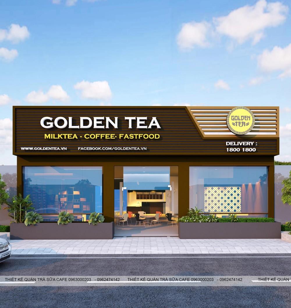 THIẾT KẾ QUÁN TRÀ SỮA GOLDEN TEA - GIAO THỦY - NAM ĐỊNH