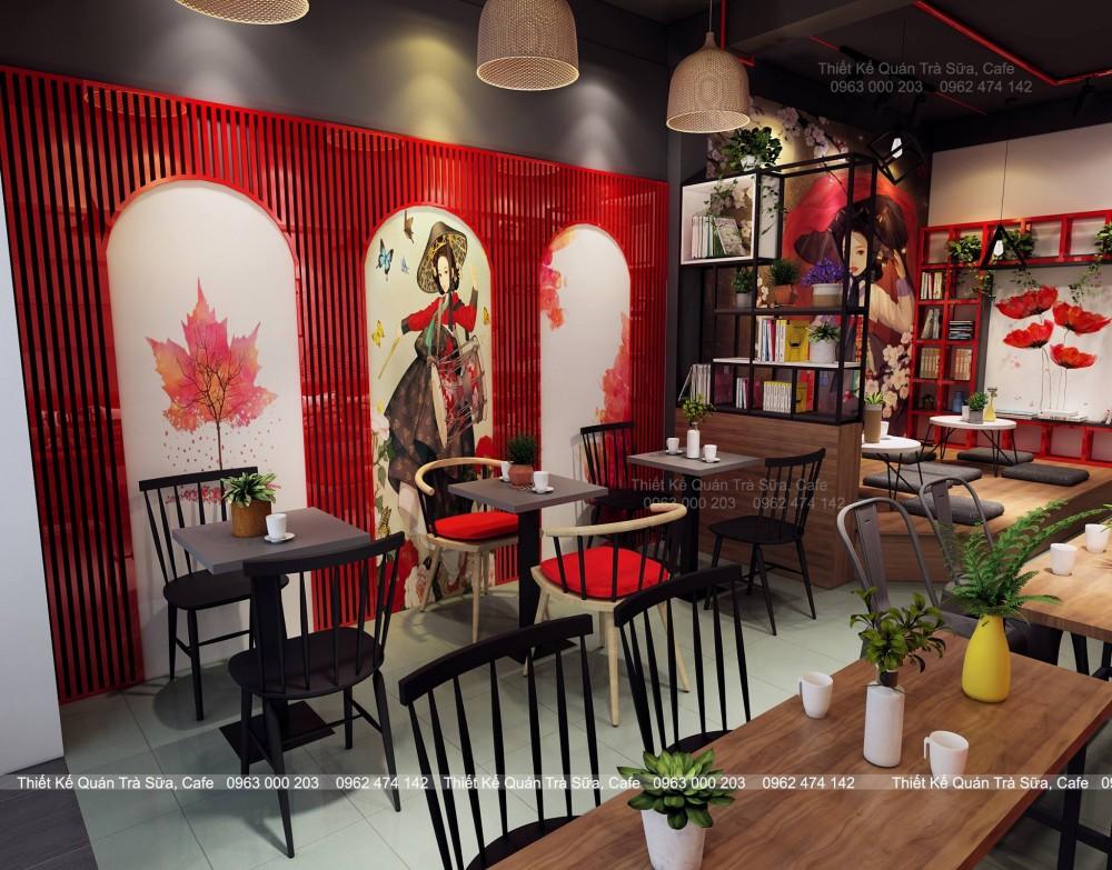 Thiết kế - Thi công Quán Trà sữa House Of Cha Bắc Quang, Hà Giang