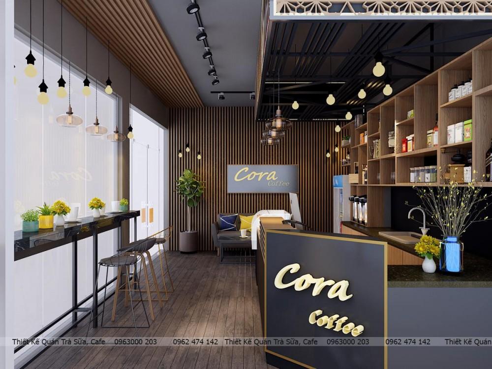 THIẾT KẾ QUÁN CORA COFFEE 90M2 - QUẢNG NINH