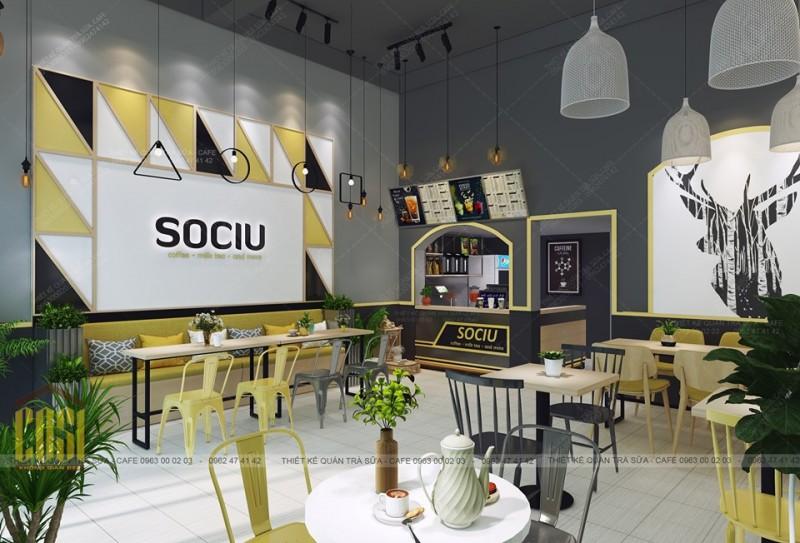 Thiết kế - Thi công Quán  SOCIU COFFEE & TEA - LẠNG SƠN