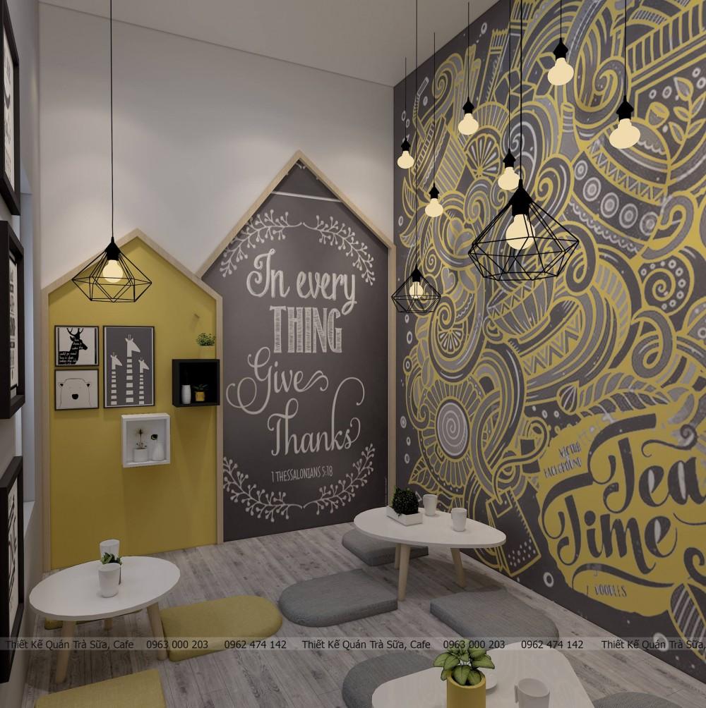 Thiết kế - Cải tạo QUÁN CAFE Bumblebee TEA - Chợ Chi Nê - Hòa Bình