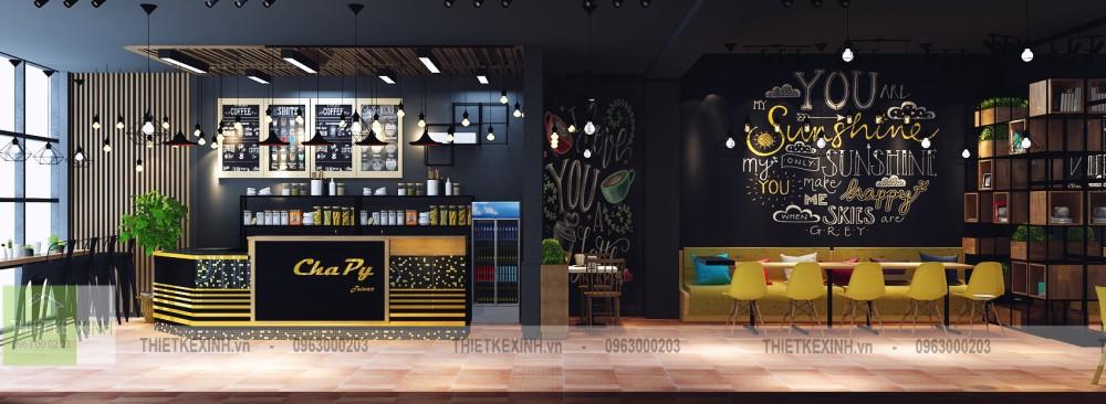 Thiết kế - thi công quán trà sữa Vũ Phạm Hàm