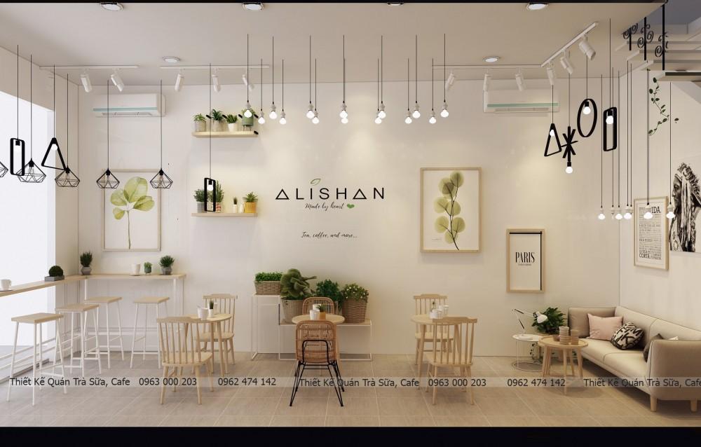 Thiết kế - thi công quán trà sữa ALISHAN_TEA_COFFEE
