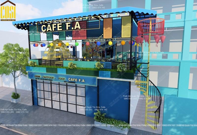THIẾT KẾ - THI CÔNG QUÁN CAFE tại HÀ NỘI