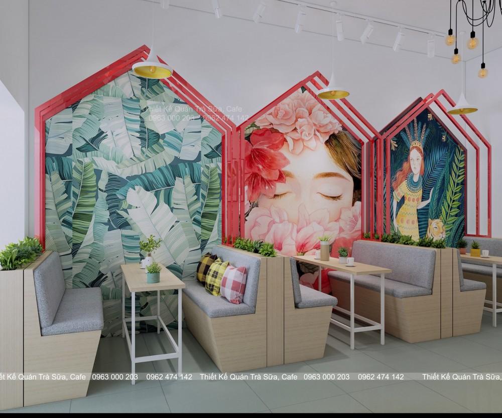Thiết kế - Thi công Quán Trà sữa DONG YANG FRESH TAIWANESE TEA HƯNG YÊN