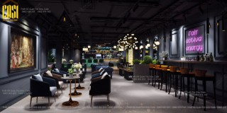 Thiết kế Quán BAR CAFE PHONG CÁCH TÂN CỔ ĐIỂN