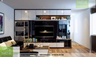 Thiết kế thi công nội thất CĂN HỘ 2 PHÒNG NGỦ 77m2 - Chung cư Yên Hòa SunShine Vũ Phạm Hàm