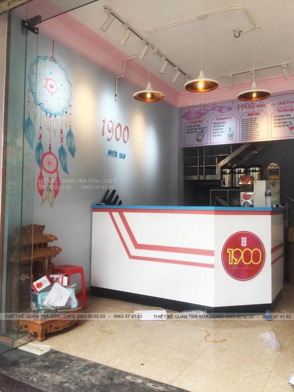 Thiết kế - Thi công Quán Trà sữa 1900 Milk Tea, Đồng Đăng, Lạng Sơn