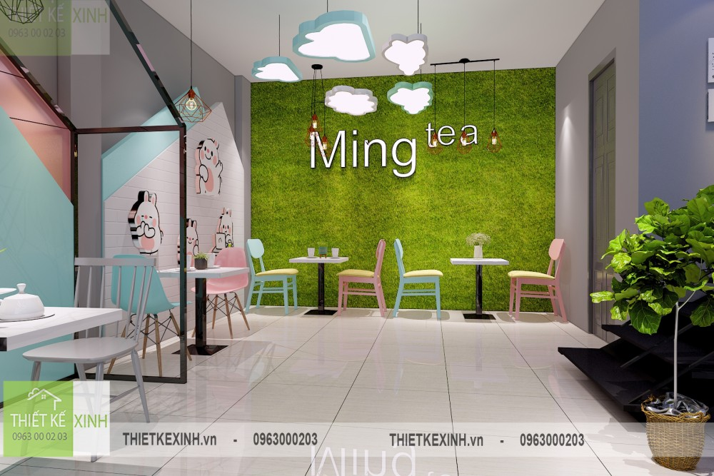 Thiết kế quán trà sữa Mingtea