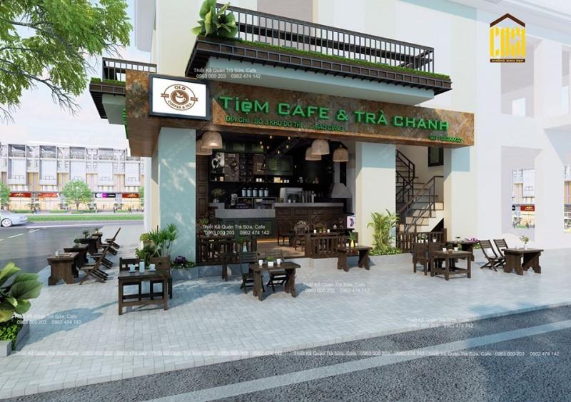 THIẾT KẾ - THI CÔNG TIỆM TRÀ CHANH & CAFE - OLD COFFEE & TEA BẮC GIANG