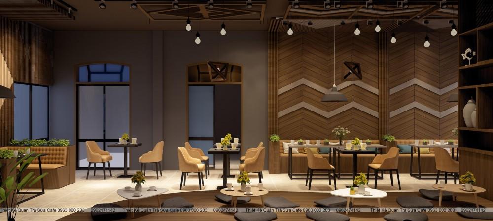THIẾT KẾ QUÁN CENTRAL COFFEE Hữu Bằng - Thạch Thất - Hà Nội