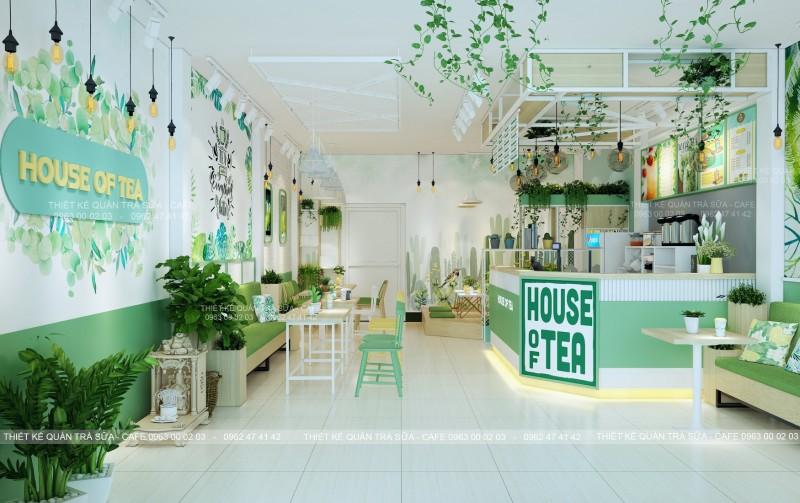 Thiết kế - Thi công Quán Trà sữa HOUSE OF TEA