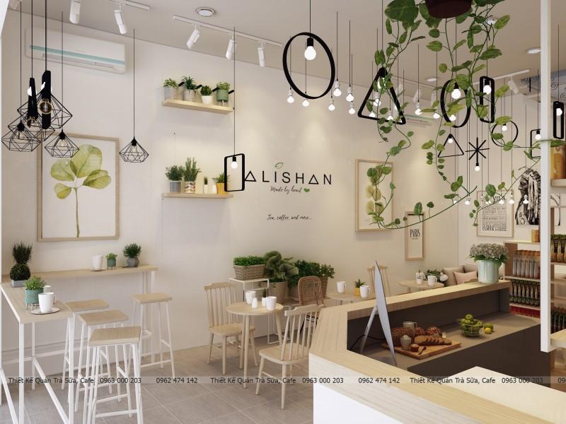 Thiết kế - thi công quán trà sữa style Scandinavian ALISHAN_TEA_COFFEE